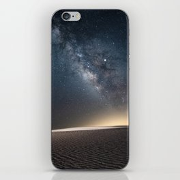 The Milky Way and White Sand Dunes of New Mexico iPhone Skin
