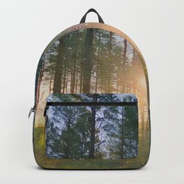 Scottish forest watercolor painting #7 Backpack