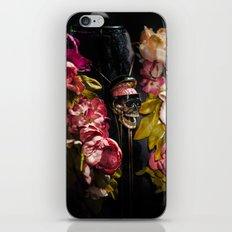 Skull and Peonies iPhone & iPod Skin