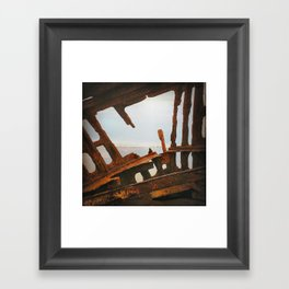 The Wreck of the Peter Iredale Framed Art Print