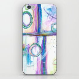 Just the Three of Us, Abstract Art Painting iPhone Skin