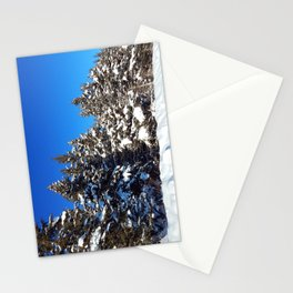 Winter forest roadside Stationery Cards