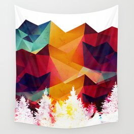 Forest made of color Wall Tapestry
