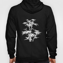 Black and White Bamboo Silhouette Hoody