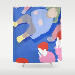 Laystanding Shower Curtain