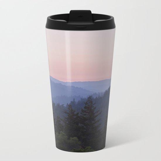 Sunset in the Santa Cruz Mountains Metal Travel Mug