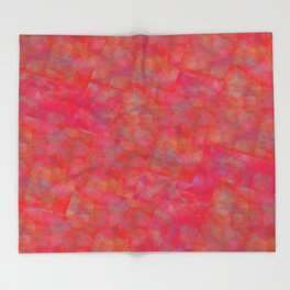 Bright Pink Cubism Abstract Throw Blanket