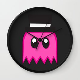 Pac-Men - Pinky Ghost - Pink Wall Clock