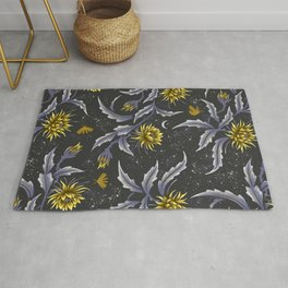 Queen of the Night - Grey Yellow Rug