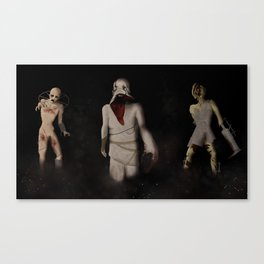 Terrifying Trio Canvas Print
