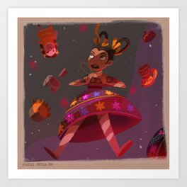 Mexican Alicia in Wonderlandia Art Print