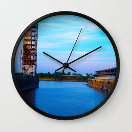 Dock in Old Port Wall Clock