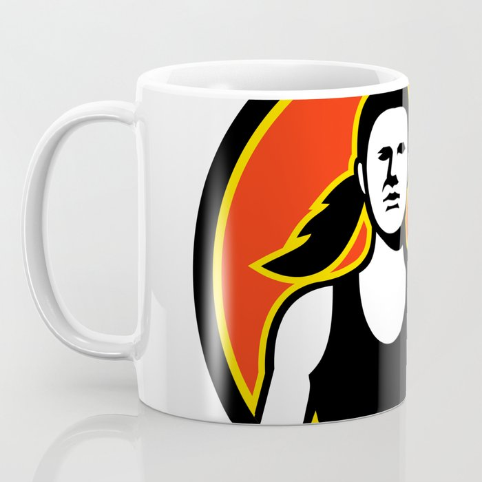 Female Personal Trainer Lifting Kettlebell Mascot Coffee Mug
