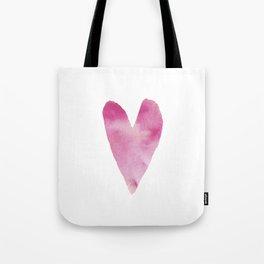 Watercolour heart Tote Bag