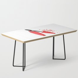 Red mascara fashion watercolor illustration Coffee Table