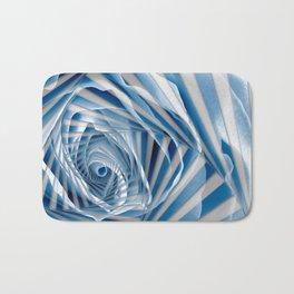 Blue Rose Spiral Bath Mat