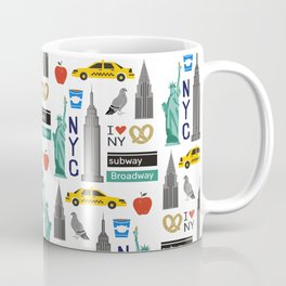NYC travel pattern fun kids decor boys and girls nursery new york city theme Coffee Mug
