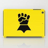 warhammer iPad Cases featuring Warhammer 40k Imperial Fists Minimalist Print by Milos Cakovan