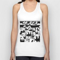 animal crew Tank Tops featuring Crew by Panda Cool