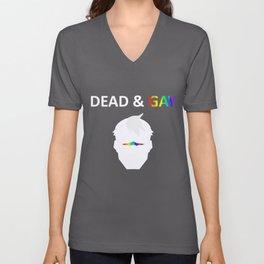 Shiro Dead & Gay Light Text Unisex V-Neck