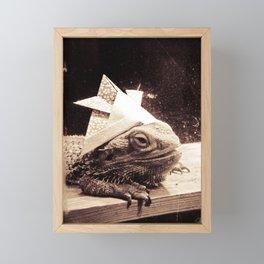 Paper Samurai, Bearded Dragon, Lizard Framed Mini Art Print
