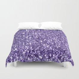 Ultra violet purple glitter sparkles Duvet Cover