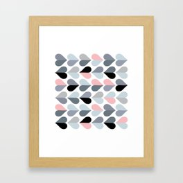 Love and Kisses in Pink and Grey Framed Art Print