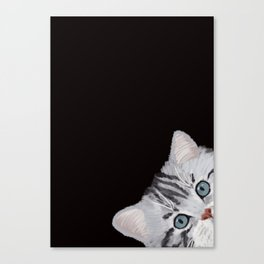 Hi! Sneaky Cat Canvas Print