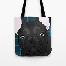 Black Frenchie Tote Bag