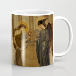 """Edward Burne-Jones """"Cupid and Psyche - Palace Green Murals - Psyche entering the Portals of Olympus"""" Coffee Mug"""