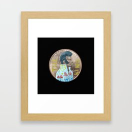 Elvis Penny White Jumpsuit Framed Art Print