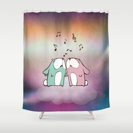 Singing Rabbits Shower Curtain