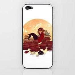 Book Lover Girl iPhone Skin