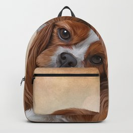 Drawing Dog Cavalier King Charles Spaniel Backpack