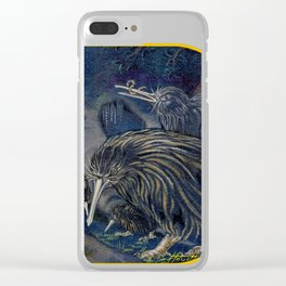 Kiwi, Bats, Morepork and More Clear iPhone Case