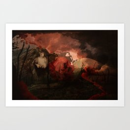 casualty of war Art Print