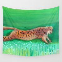 cheetah Wall Tapestries featuring Cheetah by TyTan