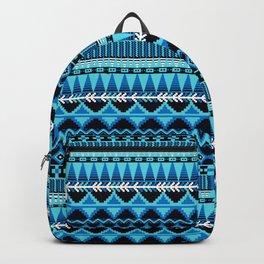 Farmhouse Kilim in Blue Monochrome Multi Backpack