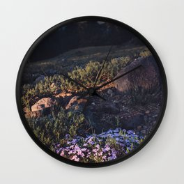 Wildflowers at Dawn Wall Clock