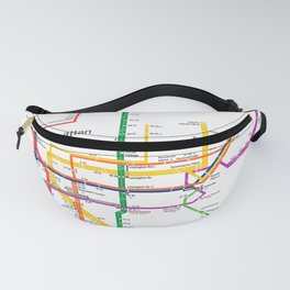 New York City subway map Fanny Pack