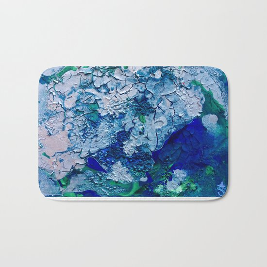 Imagined Ocean View From Above Bath Mat