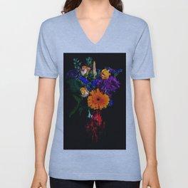 Colorful Floral Bouquet Unisex V-Neck