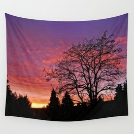 Purple Sunset Wall Tapestry