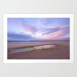 Pastel Sky, Beach Sunrise Art Print