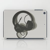 headphones iPad Cases featuring Headphones by GoAti
