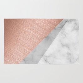 Rose Gold and Marble Rug