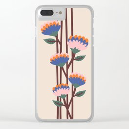 Henri Flowers Clear iPhone Case