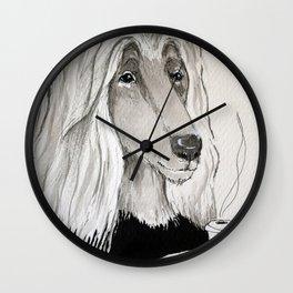 Arlie with coffee Wall Clock