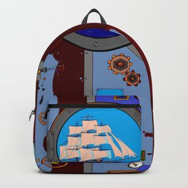 A Nautical Style Below Deck Port Hole Backpack