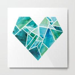 "Wholeheartedly ""Whole Heart"" Blues + Greens Metal Print"